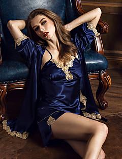 Damen Pyjama - Seide Kunstseide Eis-Seide