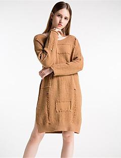 billige Kvinner Gensere-Dame Pullover - Ensfarget, Trykt mønster