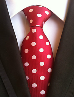 Men's Polyster Neck Tie,Neckwear Polka Dot All Seasons Red