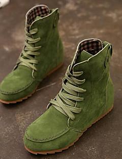 hesapli -Kadın's Ayakkabı Gerçek Deri PU Kış Rahat Moda Botlar Çizmeler Günlük için Siyah Yeşil