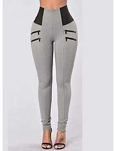 Women's High Rise Micro-elastic Skinny Pants,Sexy Skinny Solid Print