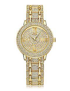 billige Børneure-Dame Quartz Armbåndsur / Sportsur Kinesisk Kalender / Kreativ / Imiteret Diamant Rustfrit stål Bånd Glitrende / Punkt / Afslappet /