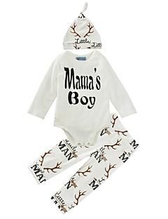 bebê Para Meninos Algodão Casual Estampado Conjunto Primavera/Outono Inverno