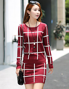 Women's Going out Casual Spring Fall T-shirt Skirt Suits
