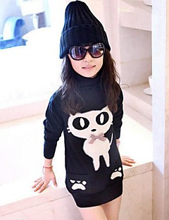 Girls' Print Blouse,Rayon Fall Winter Long Sleeve