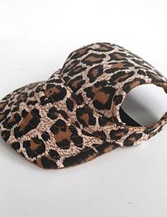 billiga Hundkläder-Katt Hund Snusnäsdukar och mössor Hundkläder Leopard Brun Nylon Kostym För husdjur Herr Dam Semester