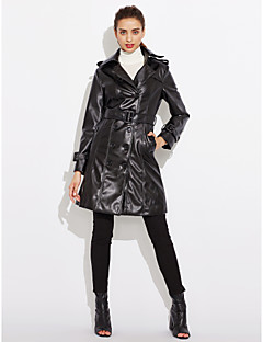 Women's Going out / Daily / Work Vintage / Street chic / Punk & Gothic Fur Coat