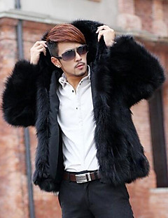 Men's Casual/Daily Casual Winter Fall Fur Coat