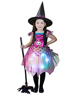 billige Halloweenkostymer-Trollmann / heks Eventyr Cosplay Cosplay Kostumer Heksekost Jente Halloween Karneval Festival / høytid Halloween-kostymer Drakter Annen Vintage