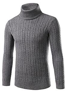 tanie Męskie swetry i swetry rozpinane-Męskie Weekend Vintage Golf Szczupła Pulower Jendolity kolor