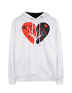 Women's Holiday Casual/Daily Simple Active Street chic Hoodie 3D Print Hooded Micro-elastic Polyester Long Sleeve Fall Winter