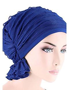 billige Hatter til damer-Dame Aktiv Solhatt - Flettet, Ensfarget Bomull