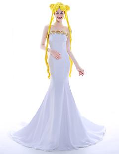 tanie Kostiumy filmowe i telewizyjne-Księżniczka Typ queen Żeglarz Kostiumy Cosplay Peruki Cosplay Kostium imprezowy Bal maskowy Kostiumy z filmów White Yellow Ubierać Łuk