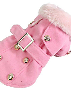 Dog Coat Dog Clothes Casual/Daily Windproof American/USA Beige Gray Yellow Red Pink