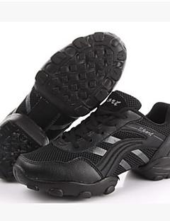 Bărbați Pantofi Dans Tul Talpă Comletă Antrenament Toc Jos Negru