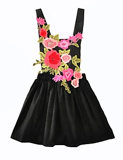 Girl's Casual/Daily Floral DressCotton Summer Fall Sleeveless