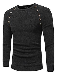tanie Męskie swetry i swetry rozpinane-Męskie Sport Okrągły dekolt Długi Pulower Jendolity kolor