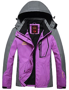 Women's Hiking Jacket Windproof Rain-Proof Waterproof Zipper Wearable Breathability Outdoor Winter Jacket Top Full Length Visible Zipper