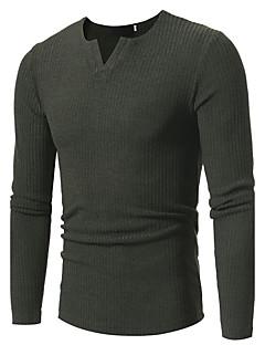 tanie Męskie swetry i swetry rozpinane-Męskie Rozmiar plus Aktywny W serek Pulower Jendolity kolor