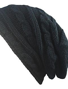 Χαμηλού Κόστους Fashionably Warm-Γιούνισεξ Μονόχρωμο Καπέλο Βαμβάκι Αγνό Χρώμα - Καπελίνα