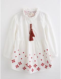 女の子 刺繍 コットン ブラウス 秋 長袖