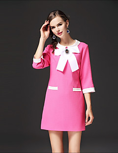 cheap FRMZ-FRMZ Women's Casual Loose Dress - Color Block, Bow