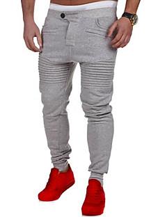 billige Herrebukser og -shorts-Herre Aktiv Bomull Tynn Rett Løstsittende Joggebukser Chinos Bukser Ensfarget