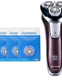 billige Barbermaskiner & Barberhøvler-flyco fs376 barbermaskin razor tre reservedeler 100240v vaskbar hurtigladning
