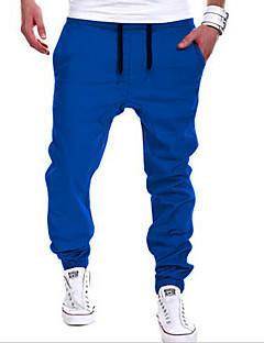 Men's Mid Rise Micro-elastic Sweatpants Pants,Street chic Harem Solid