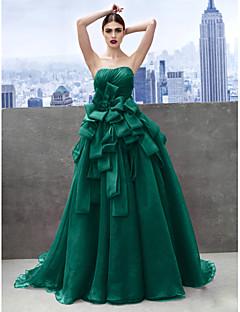 お買い得  成人式ドレス-プリンセス ハートカット チャペルトレーン オーガンザ 多層 〜と プロムドレス / フォーマルイブニング ドレス 〜によって TS Couture®