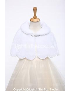 Imitatiebont Bruiloft Feest/Uitgaan Kinderstola's With Strass Korte cape