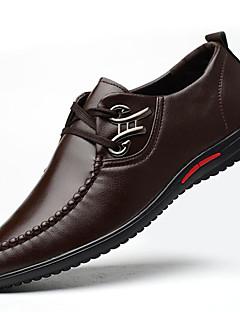 ieftine -Bărbați Pantofi Imitație de Piele Toamnă Iarnă Pantofi formale Oxfords Ținte Pentru Party & Seară Negru Maro Albastru