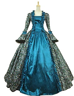 Cinderella Gudinne Nisse drakter Cosplay Kostumer Voksne Halloween Jul Karneval Nytt År Festival/høytid Halloween-kostymer Blå Trykt