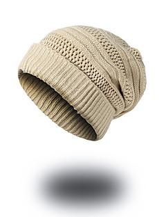 billige Trendy hatter-Unisex Hatt Mønster Hodeplagg Fritid Chic & Moderne Fritid/hverdag Hold Varm Strikketøy Beanie Hatt Solhatt Skilue,Vinter Høst Ensfarget
