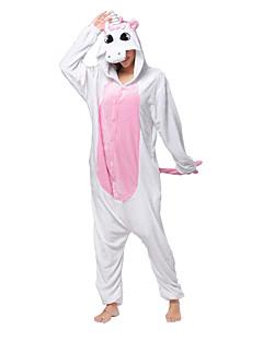 Kigurumi Pyjamas Unicorn Heldragtskostumer Pyjamas Kostume Koralfleece Lyserød Cosplay Til Voksne Nattøj Med Dyr Tegneserie Halloween