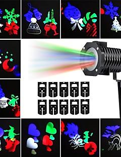 preiswerte Briefkasten Lampen-kwb Outdoor-Projektor leuchtet Multicolor rotierenden LED-Licht Projektion wasserdicht Schneeflocke Spotlight-10pcs Muster