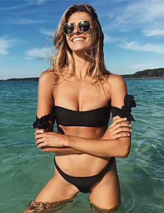 Dame Bikini Ensfarget Bandeau Solid