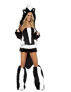 billige Halloweenkostymer-Ulv Cosplay Kostumer Halloween Festival / høytid Halloween-kostymer Svart Mote