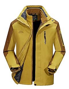 baratos Jaquetas Softshell, de Lã ou de Trilha-Homens Jaqueta para Ciclismo Ao ar livre Inverno A Prova de Vento Á Prova-de-Chuva Vestível Respirabilidade Jaquetas 3-em-1 Blusas Zíper