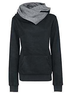 Women's Sports Going out Simple Vintage Hoodie Solid Hooded Micro-elastic Cotton Polyester Long Sleeve Fall Winter