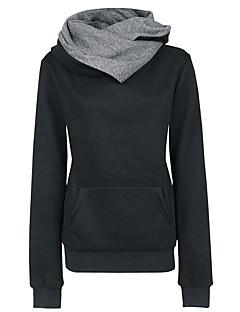 Damen Kapuzenshirt Sport Ausgehen Einfach Retro Solide Mikro-elastisch Baumwolle Polyester Lange Ärmel Herbst Winter