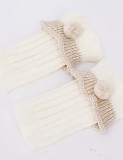 따뜻한 가을 겨울 니트 부팅을위한 여성용 모직 실 발 슬리브 보호