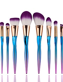abordables -8pcs Professionnel Pinceaux à maquillage ensembles de brosses / Pinceau à Contour / Pinceau Fond de Teint Poil Synthétique Synthétique /