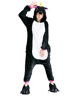 billige Kigurumi-Kigurumi-pysjamas med tøfler Pegasus Enhjørning Onesie-pysjamas Kostume Flannelstoff Cosplay Til Voksne Pysjamas med dyremotiv Tegnefilm