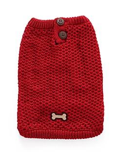 ネコ 犬 コート セーター 犬用ウェア パーティー カジュアル/普段着 コスプレ 保温 結婚式 新年 ハロウィーン クリスマス ボーン レッド ブルー