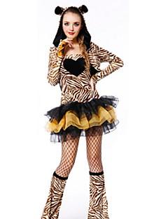 billige Halloweenkostymer-Mus Cosplay Kostumer Halloween Festival / høytid Halloween-kostymer Gul Mote