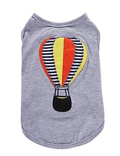 billiga Hundkläder-Hund T-shirt Väst Hundkläder Tecknat Grå Cotton Kostym För husdjur Herr Dam Fest Ledigt/vardag Födelsedag Mode Sport Bröllop