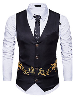 Men's Going out Casual/Daily Casual Winter Fall Vest
