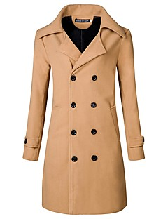 Men's Casual/Daily Casual Fall Trench Coat