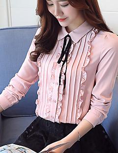 Χαμηλού Κόστους The Pink Collection-Γυναικεία Μπλούζα Δουλειά Μονόχρωμο Κολάρο Πουκαμίσου / Άνοιξη / Φθινόπωρο / Φλοράλ